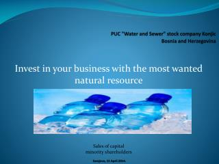 "PUC ""Water and Sewer"" stock company Konjic   Bosnia and Herzegovina"