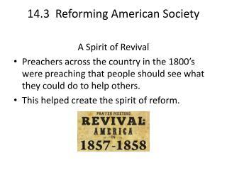 14.3  Reforming American Society