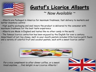 Gustaf's Licorice Allsorts ~  Now Available ~