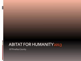 Abitat  for Humanity 2013