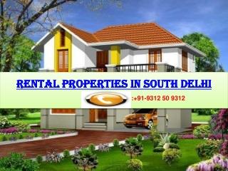 Rental Flats in South Delhi