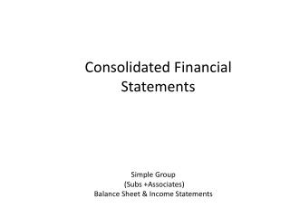 Consolidated Financial Statements