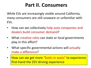Part II.  Consumers
