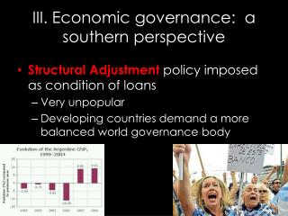 III.  Economic governance :  a  southern  perspective