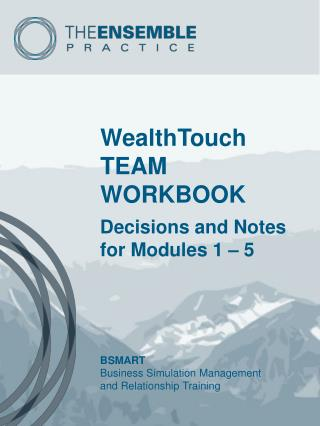 WealthTouch TEAM WORKBOOK