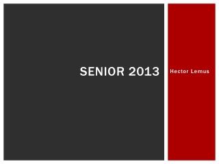 Senior 2013