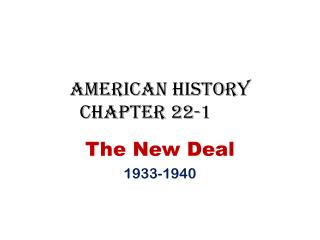 American History Chapter 22-1