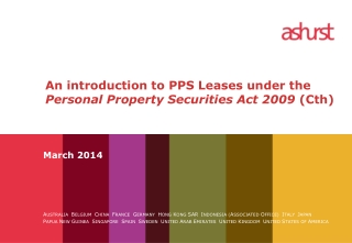 An introduction to PPS Leases under the  Personal Property Securities Act 2009  (Cth)