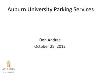 Auburn University Parking  Services