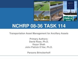 NCHRP 08-36 TASK 114