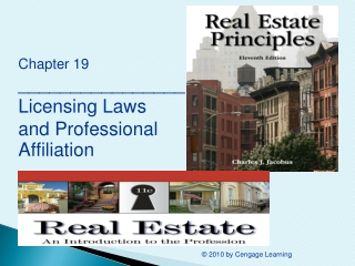 Chapter 19 ________________ Licensing Laws  and Professional Affiliation