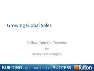 Growing Global Sales