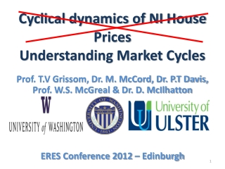 Cyclical dynamics of NI House Prices  Understanding Market Cycles