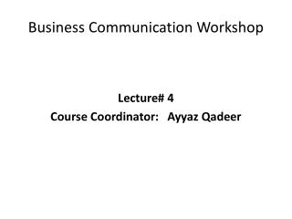 Business  Communication Workshop