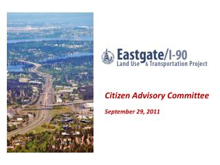 Citizen Advisory Committee September 29, 2011