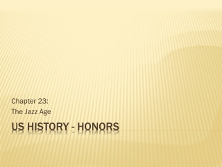 US History -  HOnors