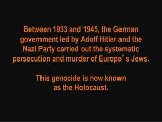 The Nazi regime also persecuted and killed millions of other people it considered politically, racially, or socially un