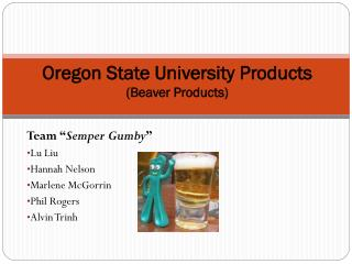 Oregon State University Products (Beaver Products)