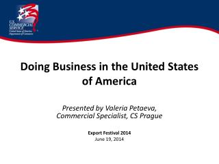 Doing Business in the United States of America