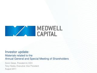 Investor update: Materials related to the Annual General and Special Meeting of Shareholders
