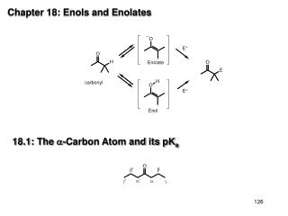 chapter 18: enols and enolates