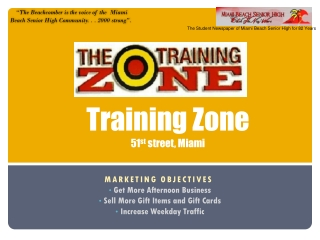 Training Zone 51 st  street, Miami