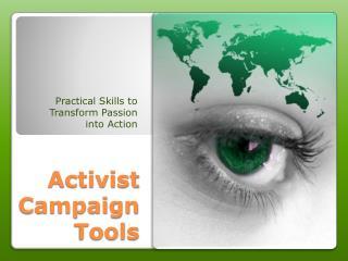 Activist Campaign Tools
