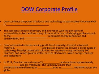 DOW Corporate Profile