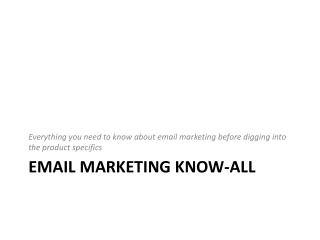 Email Marketing Know-all
