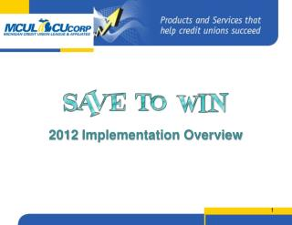 2012 Implementation Overview
