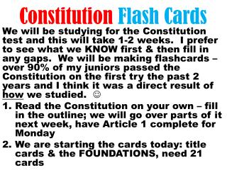 Constitution  Flash Cards