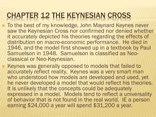 Chapter 12 The  keynesian  cross