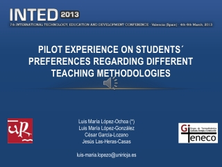 PILOT EXPERIENCE ON STUDENTS´ PREFERENCES REGARDING DIFFERENT TEACHING METHODOLOGIES
