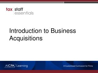 Introduction to Business Acquisitions