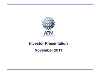 Investor Presentation November 2011