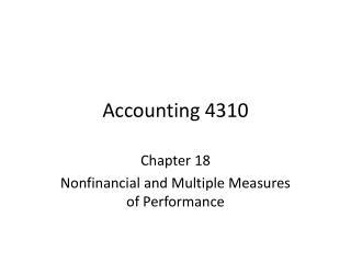Accounting 4310
