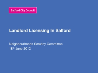 Landlord Licensing In Salford
