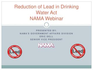 Reduction of Lead in Drinking Water Act NAMA Webinar