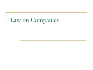 Law on Companies