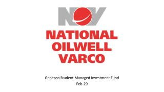 Geneseo  Student Managed Investment Fund Feb-29