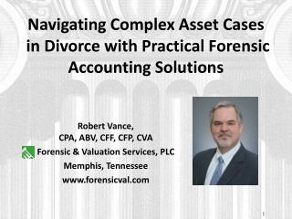 Navigating Complex Asset  Cases in Divorce with  Practical  Forensic Accounting Solutions