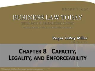 Chapter  8   Capacity,  Legality, and Enforceability