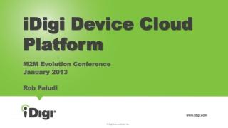 iDigi  Device Cloud Platform