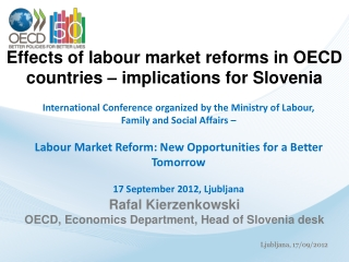 Effects of labour market reforms in OECD countries – implications for Slovenia