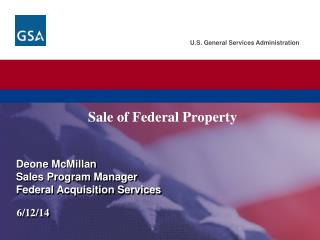 Sale of Federal Property