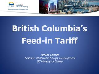 British Columbia's  Feed-in Tariff