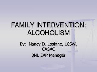 family intervention: alcoholism