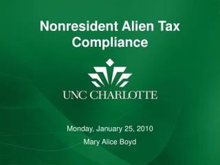 Nonresident Alien Tax Compliance