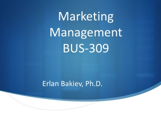 Marketing Management BUS-309