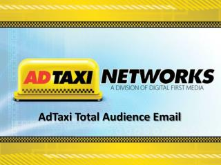 AdTaxi Total Audience Email